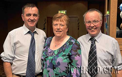 Photographed at the Killusty Soccer Club's 40th anniversary dinner dance held last weekend in Clonmel are L to R: Paddy Kenrick, Mary Kenrick and Michael Kenrick.