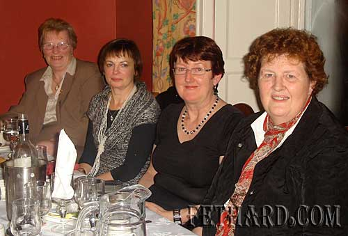 Photographed at the Knitting Club's Christmas Dinner were L to R: Margaret Carrick, Teresa Fehilly, Gemma Burke and Helen O'Keeffe