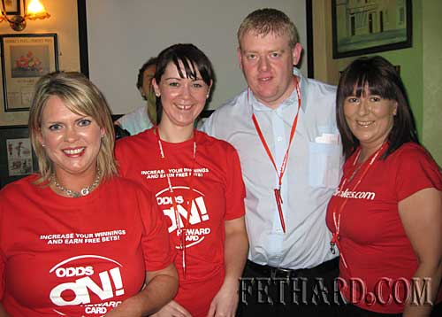 Ladbrook's manager Stephen Gough photographed with staff members Dawn McGovern, Aisling McGrath and Annette Galvin.
