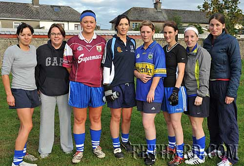 Fethard Junior ladies football team members in training for their first ever county final next week L to R: Sandra Maher, Sharon O'Meara, Edel Fitzgerald, Jean Morrissey, Audrey Conway, Fiona Conway, Nora O'Meara and Marie Holohan.