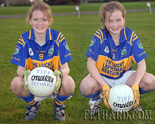 L to R: Katie Butler and Jessie McCarthy who were recently selected to play on the Tipperary under-12's girls county team
