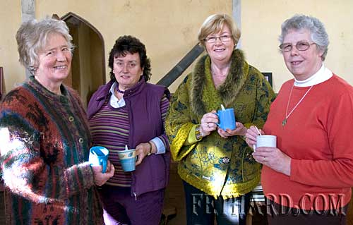 Photographed at the Annual Famine Service at Magorban Church are L to R: Petronelle Clifton Brown, Anne Wilkenson, Margaret Kingston and Bronwen Carlin