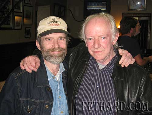 Photographed in McCarthy's after the gig were L to R: Johnny O'Connor and Arthy McGlynn