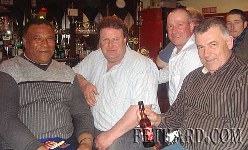 At the table quiz in Butlers in aid of the 'Missing in Ireland' support service were L to R: Joe Ryan, Liam Daly, John Pollard and William Breen