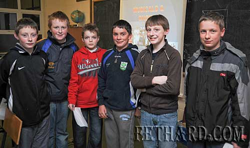 Photographed at the Fethard Patrician Presentation Secondary School's 'Open Day' last Monday evening were L to R: Charlie Manton, Eoghan Hurley, Jody Sheehan, Adam Fitzgerald, Tommy Anglim and Donal Walsh.