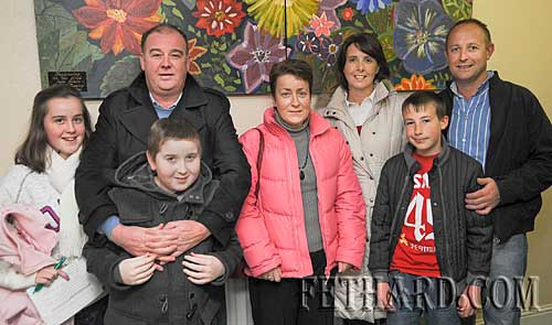 Photographed at the Fethard Patrician Presentation Secondary School's 'Open Day' last Monday evening were L to R: Anastasia Blake, Noel Blake and his son Robin, Janet Blake, Annette Hickey, Kevin Hickey and Niall Hickey.
