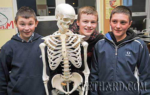 Photographed at the Fethard Patrician Presentation Secondary School's 'Open Day' last Monday evening were L to R: Kevin Shine, Jack Connolly and Graham Maher.