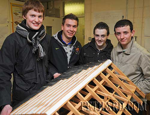 Photographed at the Fethard Patrician Presentation Secondary School's 'Open Day' last Monday evening were L to R: Stefan Müller, Matthew Fitzgerald, Adam O'Donnell and Owen Prout.