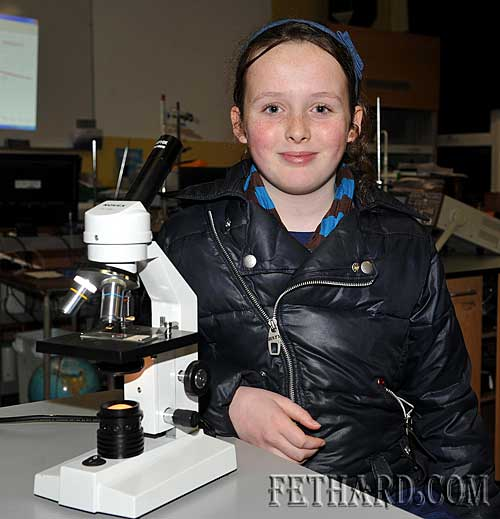 Ava Meagher exploring the science room at the Open Day at Patrician Presentation Secondary School Fethard