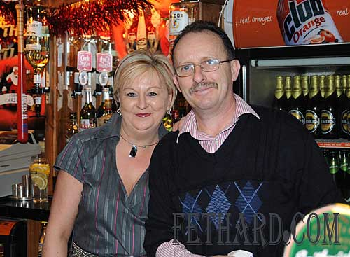 Irene and Noel Sharpe, proprietors of The Castle Inn
