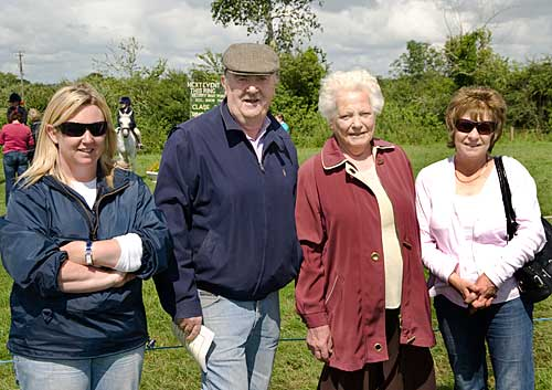 L to R: Lorraine Coen, Pat Carroll, Peg Gleeson and Helen Carroll enjoying the good weather at Killusty Show