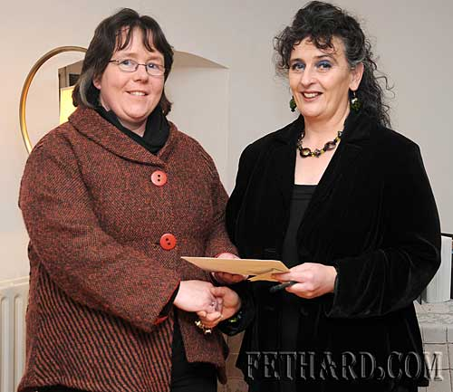 Pat Looby (right) presenting first prize to Edwina Newport for her entry in the Walled Towns Photographic Competition organised by Fethard Historical Society. The event was run by Fethard Historical Society and organised by the Irish Walled Towns Network in conjunction with the Heritage Council. It is now in its 2nd year. Edwina's photograph, which was a viewpoint of Madams Bridge, will now go forward to national level and we wish her every success.