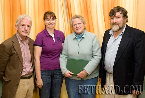 Photographed at the Killusty Pony Show AGM held in the Tirry Centre Fethard are the incoming committee L to R: Pat Culligan (treasurer), Lorraine Thompson (secretary), Betsy O'Connor (outgoing secretary), and Noel Byrne (chairman)