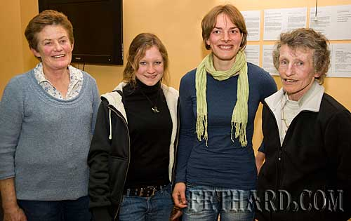 Photographed at the Killusty Pony Show AGM held in the Tirry Centre Fethard are L to R: Diana Stokes, Lisa Kratochwil, Dora Koppl and Margaret Kimhnel