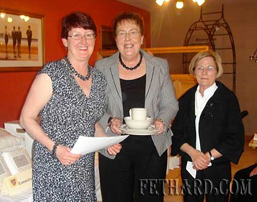 Fethard Bridge Club President's Prize winners 2009 L to R: Gemma Burke (President) with winners Frances Burke and Breda Walsh.