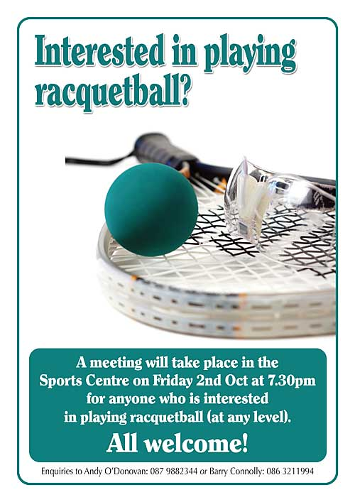 Anyone to play Racquetball?