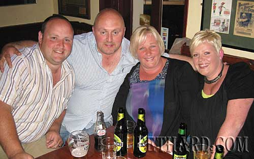Photographed at the Dublin City Ramblers at Lonergans last weekend were L to R: John Smullen, Tommy Strappe, Susan Strappe and Marian Smullen.