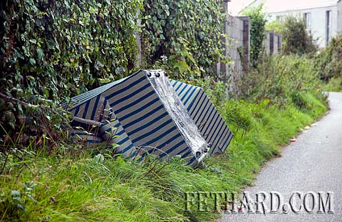 Easy identifiable furniture dumped at Strylea Boreen