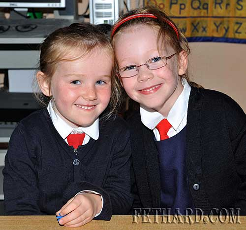 Starting school at Nano Nagle National School were L to R: Heather Spillane and Ciara Spillane