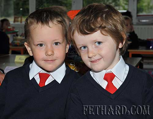 Starting school at Nano Nagle National School were L to R: Conor Neville and Michael James Phelan.
