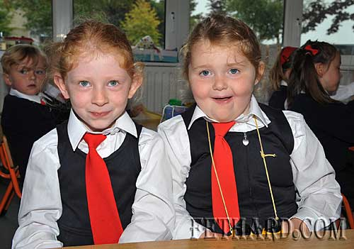 Starting school at Nano Nagle National School were L to R: Kelly Ryan and Sophia O'Brien.