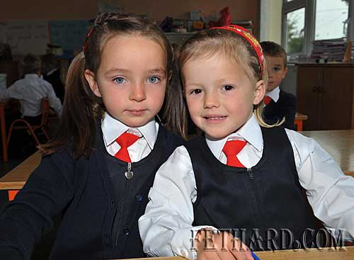 Starting school at Nano Nagle National School were L to R: Katie Wyse and Jessica Stokes.