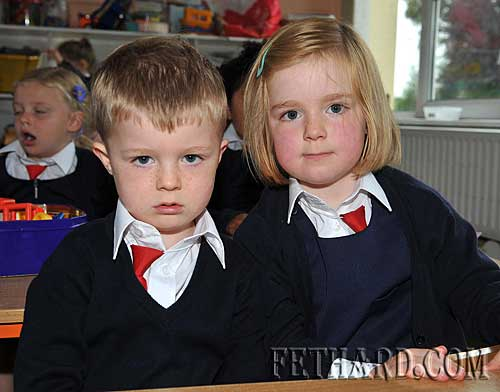 Starting school at Nano Nagle National School were L to R: twins Thomas and Gráinne Murray.