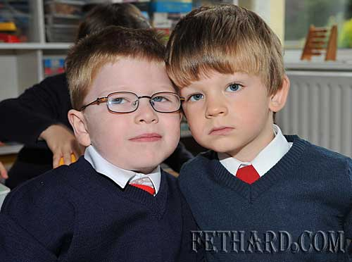 Starting school at Nano Nagle National School were L to R: Daragh Spillane and Lewis McArthur.