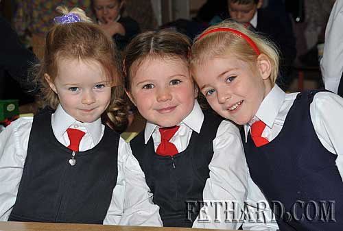 Starting school at Nano Nagle National School were L to R: Anna Collier, Gillian Burke and Lily O'Mahoney.