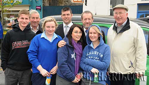 Sean Kelly campaigning in Fethard for European Election. L to R: Kieran O'Connell, Michael O'Dwyer, Lesley Looby, Cllr Michael O'Brien, Niamh Fanning, Sean Kelly, Sarah O'Meara and Paddy Broderick.