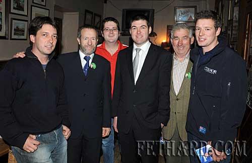 L to R: Vinny Murphy, Sean Kelly, Eoin Whyte, Cllr Jimmy O'Brien, Michael O'Dwyer and Padraig Kelly.
