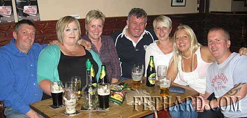 Members of the Sheehan family 'Embracing the Pear' while home of holidays from Scotland. L to R: Michael Sheehan, Dawn McKeown, Annette O'Donovan, Liam Kelly, Michelle Kelly, Stacey Neville and Mark Neville.