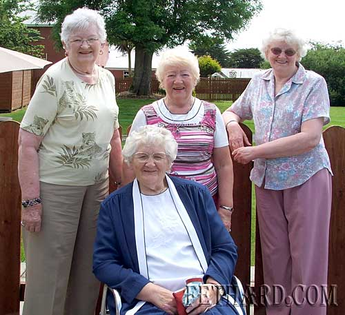 Four Evans sisters pictured relaxing at Slievenamon Golf Club. The sisters are daughters of the late Garda Dan Evans from Congress Terrace, Fethard. L to R: Annie (O'Brien), Noreen Evans, Agnes Evans and in front Maura (Trehy).
