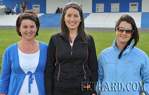 Photographed at the Under-12 ladies football county final in New Inn are Killusty sisters Bernadette, Marie and Ally Holohan.