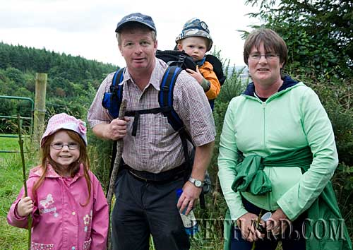 The Sheehy family, Garrinch, pictured on Slievenamon at the Annual Pilgrimage on Sunday 16th August. L to R: Hannah, Brian, Criostóir and Noreen.