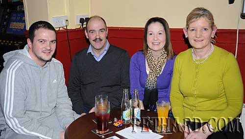Photographed at Fethard & District Day Care Centre Table Quiz at Butler's Bar are L to R: Conor McCarthy, Michael McCarthy, Orla Nagle and Geraldine McCarthy.