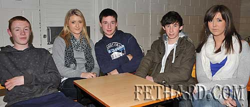 Taking part in the Fethard Patrician Presentation Parents Association Table Quiz were L to R: Damien Morrissey, Jane Fitzgerald, Andrew Maher, Louis Rice and Mary Anne Fogarty.