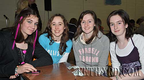 Taking part in the Fethard Patrician Presentation Parents Association Table Quiz were L to R: Tara Horan, Aobh O'Shea, Karen Hayes and Michelle Walsh.