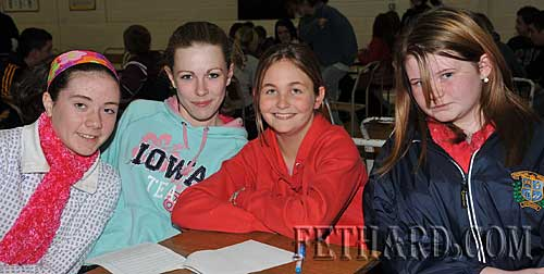 Taking part in the Fethard Patrician Presentation Parents Association Table Quiz were L to R: Kate O'Donnell, Kate Quigley, Hanna Tobin and Jennifer Rice.