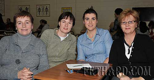 Taking part in the Fethard Patrician Presentation Parents Association Table Quiz were L to R: Teresa Hurley, Marguerite Dalton, Jayne Sparrow and Marie Leahy.