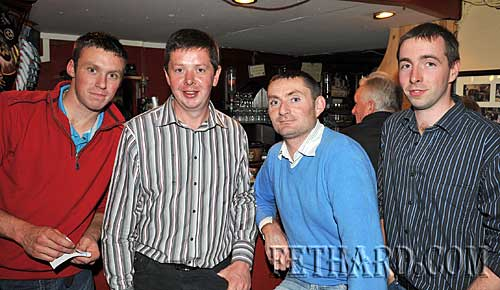 Taking part in the Fethard Macra Table Quiz held in Butlers Bar in aid of MS Ireland. L to R: Rody O'Dwyer, Dominic Kinane, Richard Heffernan and James O'Dwyer.