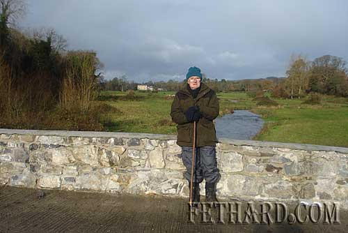 Hunting correspondent Tony Newport photographed on the renovated 'Tinsley Bridge' in Ponsonbys, Grove, while out hunting with the Tipperary Foxhounds