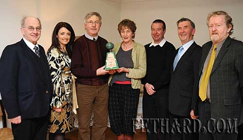 Photographed at the presentation of this year's Tipperariana Book of the Year, 'A Day to Remember— a photographic memoir of The Loughmore Pageant' published and compiled by Loughmore community, at a reception organised by Fethard Historical Society are L to R: Tom Cullagh, Caroline Nesbitt, Sean Gleeson, Dóirín Saurus (Fethard Historical Society), Graham Cullen, Philip Maher and Terry Cunningham (Fethard Historical Society).
