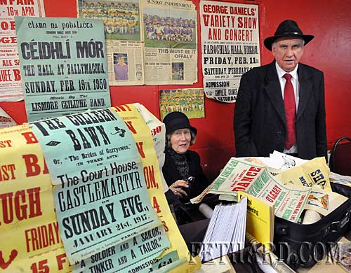Collector, John Ryan and his wife Mary from Clonmel photographed at their Tipperariana Book Fair stall.