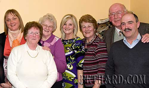 Photographed at the Augustinian Abbey helpers party are L to R: Ann Barry, Annie Connolly, Agnes Evans, Geraldine McCarthy, Nel Broderick, PAddy Broderick and Michael McCarthy.