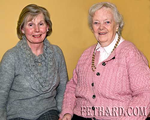 L to R: Noreen Maher and Kathleen Kenny photographed at the Augustinian Abbey helpers party
