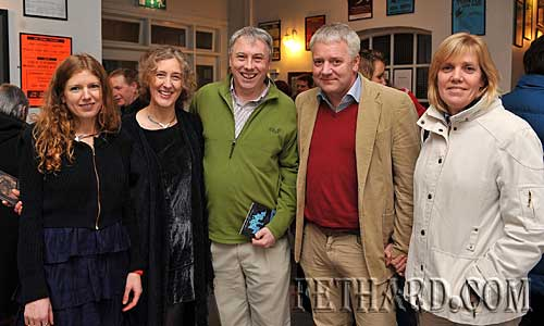 Vyvienne Long meeting some of her fans after her gig in the Abymill Theatre last weekend. L to R: Vyvienne Long, Anne Allison, Daithi Allison from Ballypatrick, Eamon Dawson and Denise Dawson from Kilsheelan.