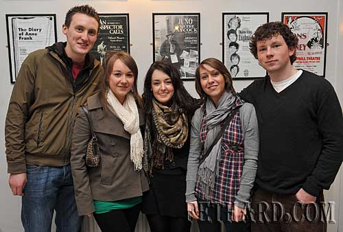 Photographed at the Vyvienne Long concert in the Abymill Theatre last weekend are L to R: Shane Long, Amanda Gibson, Sarah Moloney, Fiona Hyland and Shane Minogue.