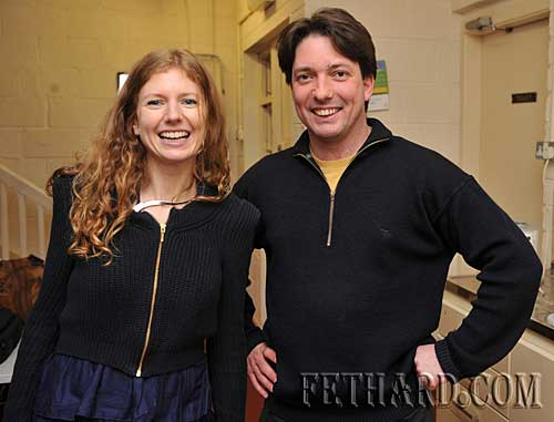 Vyvienne Long photographed with Vinny Murphy after the gig.