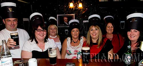 Photographed at Lonergan's Bar celebrating 'Arthur's Day are L to R: Tony Maher, Joan Carroll, Deirdre Dorney, Fiona Dorney, Roseanne Carroll, Mary Dorney and Caroline Flanagan.
